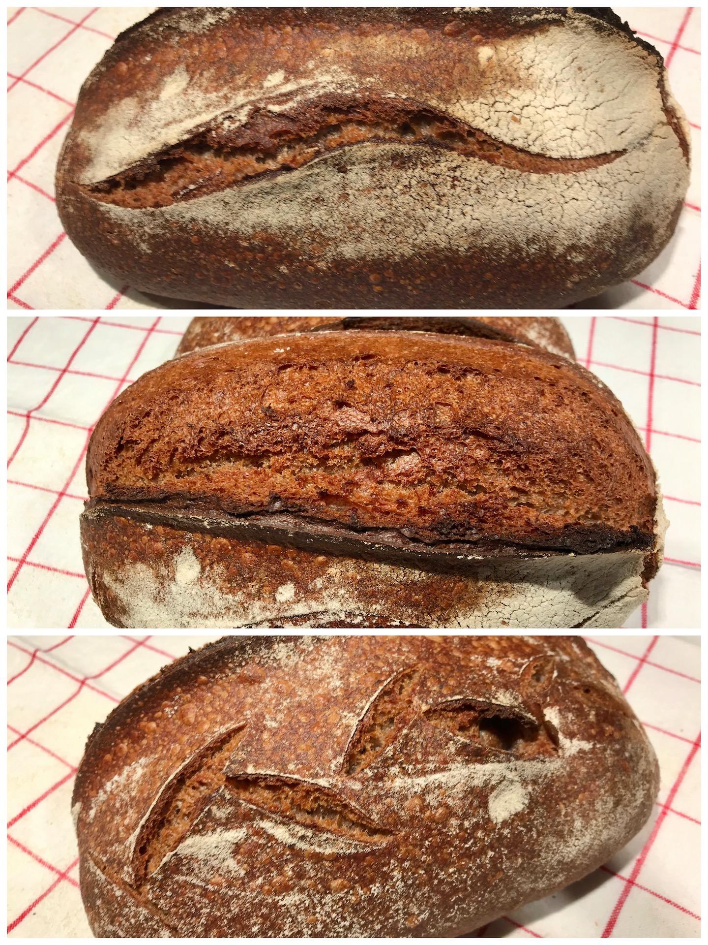 Brot mit schwarzen Bohnen